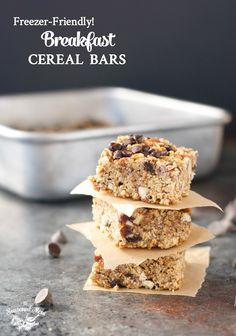 Freezer-Friendly Breakfast Cereal Bars