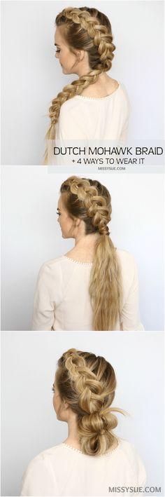 holandés-trenza-peinado-Tutorial