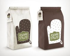 The Buckwheat Flour packaging is based on a simple vector illustration and a custom made cyrillic font.