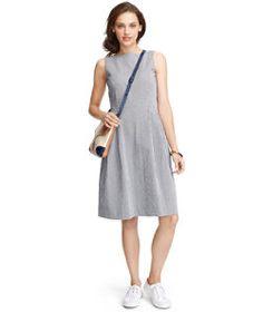 #LLBean: Signature Seersucker Dress, Stripe