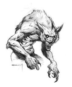 Werewolf by Patrick Reilly, ~PReilly on deviantART