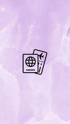 INSTAGRAM STORY COVER : PASSPORT WWW.INSTAGRAM.COM/JORDANRENIE Kawaii Wallpaper, Disney Wallpaper, Instagram Background, Insta Icon, Alphabet Art, Purple Aesthetic, Instagram Highlight Icons, Story Highlights, Instagram Story Ideas