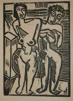 German Expressionist Woodcuts: Karl Schmidt-Rottluff, (German, 1884-1976)