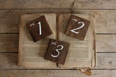 Wedding Table Numbers - Rustic Wedding Signs - Wooden Table Numbers - Rustic Wedding Decor - Country Wedding by kashturana on Etsy