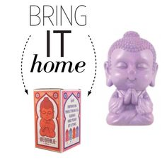 """""""Bring It Home: Buddha Money Bank"""" by polyvore-editorial ❤ liked on Polyvore featuring interior, interiors, interior design, home, home decor, interior decorating and bringithome"""