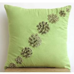 designer green pillow covers modern floral pillow covers https