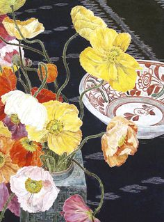 Cressida Campbell, Poppies woodblock