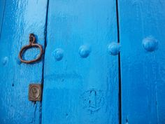 Awesome blue door in a white village named Frigiliana, close to Malaga (50km).