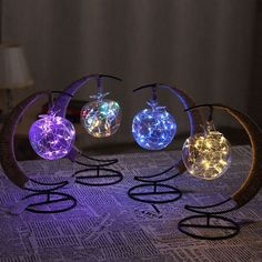 The Crescent Moon Fairy Light Lantern brings a colorful glow to your favorite spaces. Shop for creative lighting from around the globe at the Apollo Box.