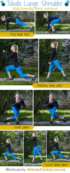 Tabata Lunge Shredder workout infographic