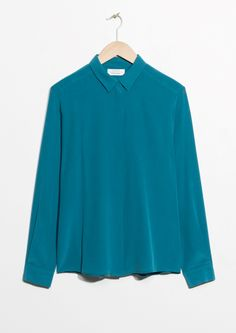 & Other Stories image 1 of Classic Silk Shirt in Blue