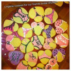 Bachellorette or Lingerie Shower cookies!