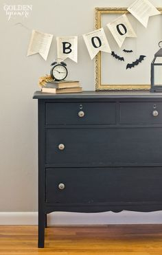 Halloween decor and