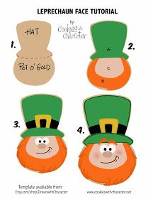 Cookies with Character: Easy Leprechaun Face Cookie Tutorial