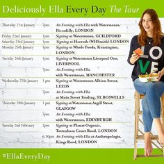 So excited to share this with you all! My book tour for Deliciously Ella Everyday  I'm coming to Manchester Leeds Edinburgh Glasgow the Scottish Borders Guildford and lots of London events too! I'll also be coming to Dublin in February more details soon. I can't wait to meet lots of you next month and celebrate the book together  All the event details are on my blog there's a link to the page in my bio. Lots of the events do need tickets so have a look at the details and book if you need to…