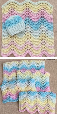 Little children need a cozy blanket to keep them warm. Besides, who doesn't like soft blankets? A warm, multifunctional Gentle Baby Blankets are something Crochet Baby Blanket Free Pattern, Baby Sweater Knitting Pattern, Easy Knitting Patterns, Crochet Patterns, Baby Knitting Free, Small Knitting Projects, Knitted Baby Blankets, Gentle Baby, Pastel Colours
