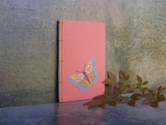 Butterfly. Embroidered A6 Notebook. Stitch by FabulousCatPapers