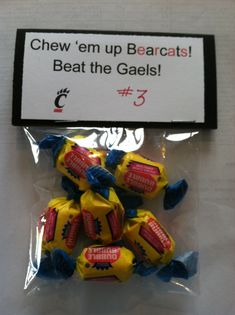 Homecoming treats/ Locker tags on Pinterest | Candy Grams, Lockers and ...