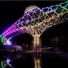 """""""tabiat"""" bridge in Tehran,Iran, I think this is a brand new bridge in Iran designed by a woman, It's beautiful"""