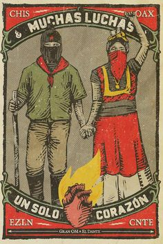 Cni and Ezln call on all people to support teachers' struggle after the repressive police crackdown on Oaxaca Protest Posters, Political Posters, Political Art, Protest Kunst, Protest Art, Arte Latina, Propaganda Art, Mexico Art, Chicano