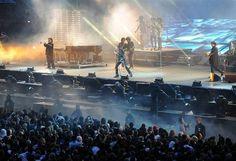 Johnny lors de son concert à la Beaujoire, à Nantes, la semaine dernière.
