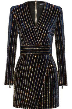 Balmain | Embellished velvet mini dress | NET-A-PORTER.COM
