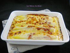 Asperges blanches gratinées au parmesan et jambon de Parme