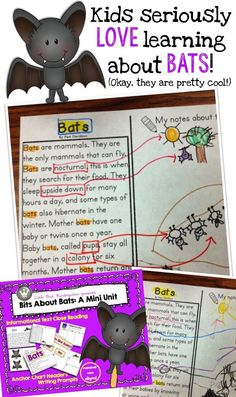 Hands down kid favorite! They LOVE learning about bats and I love how much language and writing I can dig out of them! Super fun mini unit for kindergarten and first grade!!