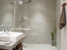 Italian shower: 33 photos of open showers - Bathroom 02 Small Bathroom With Shower, Simple Bathroom, Modern Bathroom, Modern Shower, Open Showers, Malaga, Bathtub, Luxury, Design