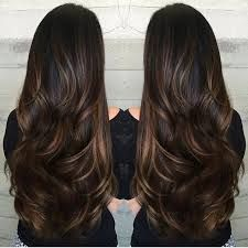Image result for caramel highlights in dark brown hair before and after