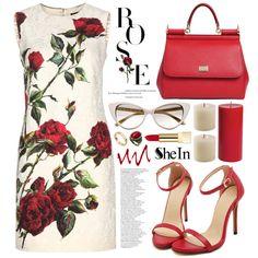 Sheinside by ruska-10 on Polyvore featuring мода, Dolce&Gabbana, ASOS, PUR, Caspari, DwellStudio, Tom Ford and Sheinside