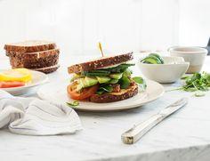 Tempeh Vegan Club Sandwiches-  good marinated tempeh idea