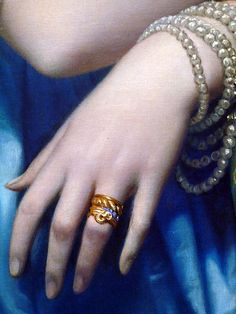 Detail.   Jean-Auguste-Dominique Ingres:   Princesse de Broglie, oil on canvas, 1851–53
