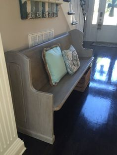 Beautiful Refinished Church Pew by PeacefulPews on Etsy