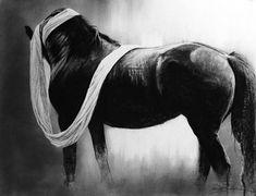 Cloth and Velvet - Friesian by Susie Gordon Charcoal ~ 9 x 12 Friesian Horse, Tumblr Wallpaper, Charcoal, Velvet, Horses, Drawings, Artist, Artwork, Painting