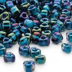 Lamp Work Bead #5 Iridescent Blue