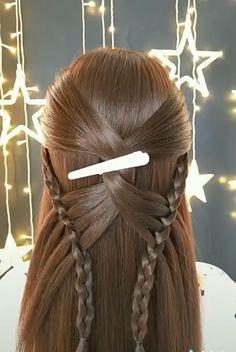 Bun Hairstyles For Long Hair, Short Hair Updo, Braids For Long Hair, Braided Hairstyles, Hair Tutorials For Medium Hair, Easy Updos For Medium Hair, Hair Up Styles, Medium Hair Styles, Long Hair Video