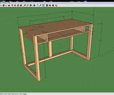Welcome to my tutorial of building yourself a cheap and simple computer desk. In this guide I will take you step by step on how to create your own like this. If you look closely at the images above the first one is what I came up with according to actual dimensions of certain materials, it will have more fractions than the next two. Those are the dimension you will need if your MDF top is for some reason actually a quarter inch short of 24''x48'', making it 23.75'' x 4...