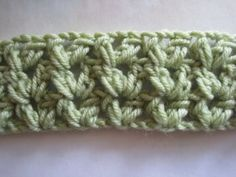 How to crochet the V-Cluster stitch