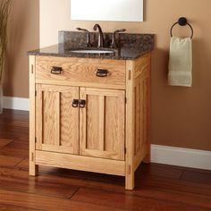 "30"" Mission Hardwood Vanity for Undermount Sink"
