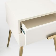 Hayworth Nightstand - White Lacquer #westelm
