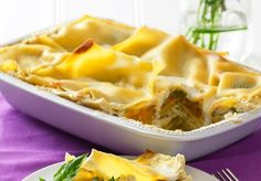White Lasagna with Roasted Butternut Squash and Spinach - Chef Chloe - Vegan Cooking and Recipes