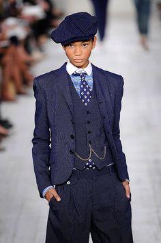 Tomboy in pants suit   La Feem: Ralph Lauren Spring 2010