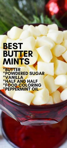Best Butter Mints Homemade Butter Mints are simply the BEST! An easy to make sweet, buttery, and delicious old fashioned candy. Silky smooth, serve after dinner, Wedding or Baby Shower MUST! Rocky Road Fudge, Köstliche Desserts, Delicious Desserts, Dessert Recipes, Dinner Recipes, Homemade Butter, Homemade Candies, Homemade Sweets, Homeade Candy