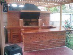 Backyard Kitchen, Outdoor Kitchen Design, Patio Design, Backyard Patio, Barbacoa, Tent Camping, Ideas Para, Porch, Bbq