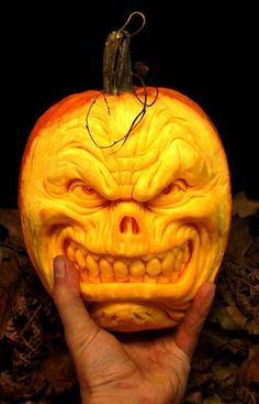 """This awesome pumpkin was done by a man named Ray Villafane & he did this & others on """"Food Network Challenge: Outrageous Pumpkins"""". 14"""