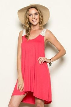 Sweet Memories Coral Dress