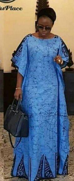 Blue dress 4 robe African Maxi Dresses, African Fashion Ankara, African Dresses For Women, African Print Fashion, Africa Fashion, African Attire, African Wear, African Women, African Lace