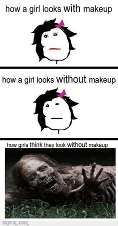 How Girls Think They Look Without Make-up