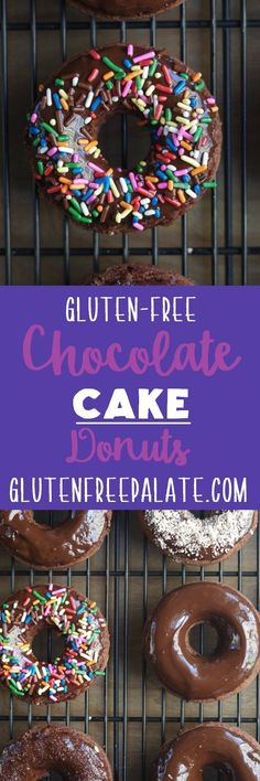 These tender, chocolaty Gluten-Free Chocolate Cake Donuts will melt in your mouth. They only require a few ingredients, and they bake up super quick. Start your day with a delicious warm donut straight from the oven.